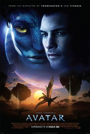 Pôster promocional do Filme Avatar, James Cameron, 2009