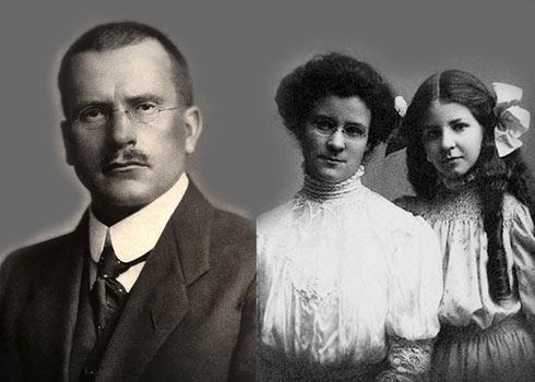 Fotografia Carl Jung, Katharine Cook Briggs e sua filha Isabel Briggs Myers