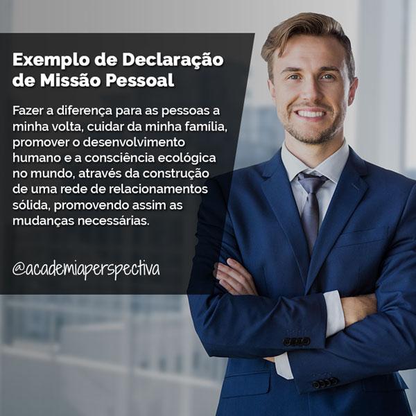 Exemplo de Declaração de Missão